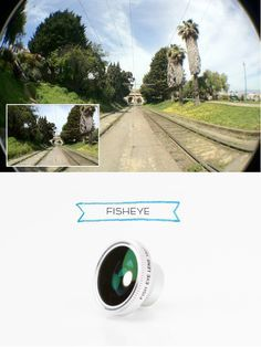This fisheye lens (like all others) is actually an ultra-wide angle lens. With it, your phone lens will capture rounded images instead of square ones.    It provides a real deal hemispherical view that makes everyone look like they're living in a bubble. Like rolling a panoramic shot into a snowball! $25