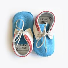 First Baby Shoes   Baby shoe making kits   Susu Blue/Red Lace Up baby shoes   Hand make your own leather baby shoes   Check out the range of baby shoe making kits online at Romper Stomper Kids.