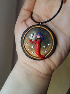 Miraculous Ladybug inspired polymer clay necklace by Fegarostalida