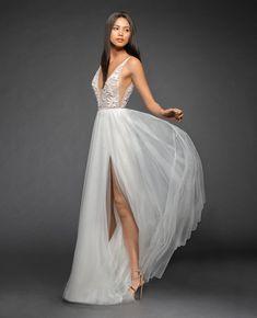 Lazaro Style 3858 Roxana Bridal Gown Front