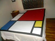 Bold Block Quilt on Bed