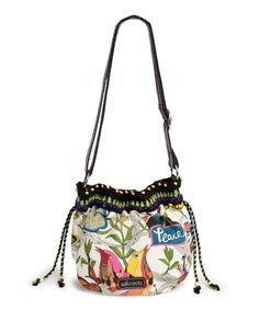 Take a look at this White Peace Drawstring Satchel by The Sak on #zulily today!