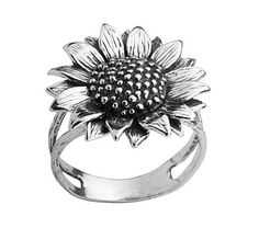 Or Paz Sterling Sunflower Ring - QVC.com