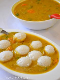 Sambar Idly / Mini Idly with Sambar / 14 Idlies: Idly Recipe, Tamarind Paste, Coconut Curry, Curry Leaves, Healthy Breakfast Recipes, Pressure Cooking, Vegetables, Ethnic Recipes, Easy