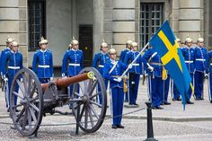 The Changing the Guard at Stockholm Palace (Swedish: Kungliga Slottet), the official residence of the King and Queen of Sweden, occurs daily in its Outer courtyard.