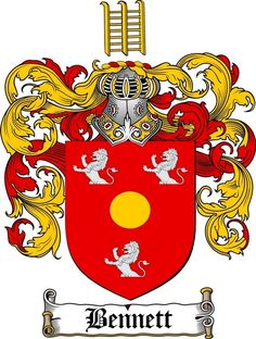 Bennett family crest bennett coat of arms (mothers maiden name)