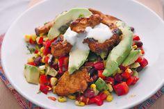 Spicy mexican chicken salad