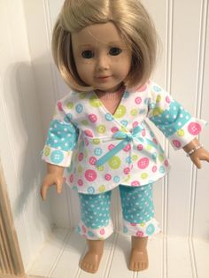 American Girl Doll Clothes Flannel Pajamas by NanaDorysCreations, $12.50