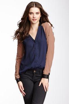 Studded Raglan Sleeve Blouse on HauteLook