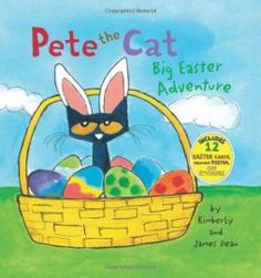 Pete the Cat: Big Easter Adventure by James Dean - Pete just can't decide which outfit to wear to school! He has so many options to choose from. Fans of Pete the Cat will enjoy Pete's creativity in choosing the coolest outfit. James Dean, Easter Bunny, Easter Eggs, Hoppy Easter, Easter Art, Easter Books, Pete The Cats, Thing 1, Flashcard