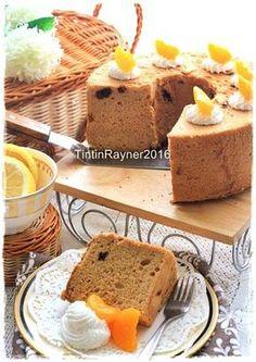Angel Food Cake Moka+Raisin (Cake Putih Telur) Oil Free ^.^