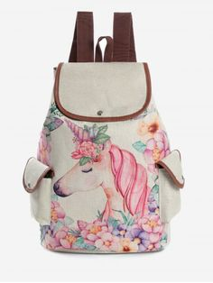 The Unicorn A Bouquet Of Roses And Butterflies On Black Background Super Cute Design Small Canvas Messenger Bags Shoulder Bag Round Crossbody Bags Purses for Little Girls Gifts