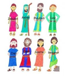 12 tribes of Israel clip art, use to retell story? this is from scribd not sure where it came from