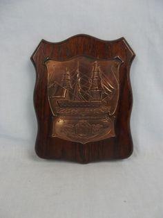 Nelson Commemorative HMS Victory Copper Plaque Circa 1905 Hms Victory, Victorious, Coins, Copper, Rooms, Brass