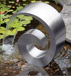 Beautiful Stainless Steel Water Feature