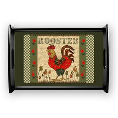 Rooster Small Serving Tray