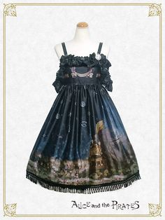 Alice and the Pirates Starry Sky Lantern and the Treasure Island in my Dreams Jumperskirt Ⅱ Navy Ribbon, Sky Lanterns, Shop Up, Treasure Island, Lolita Dress, My Dream, Flower Girl Dresses, Cosplay, Wedding Dresses