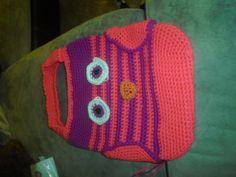 Crochet Owl Tote by CrazyLeggies on Etsy, $35.00