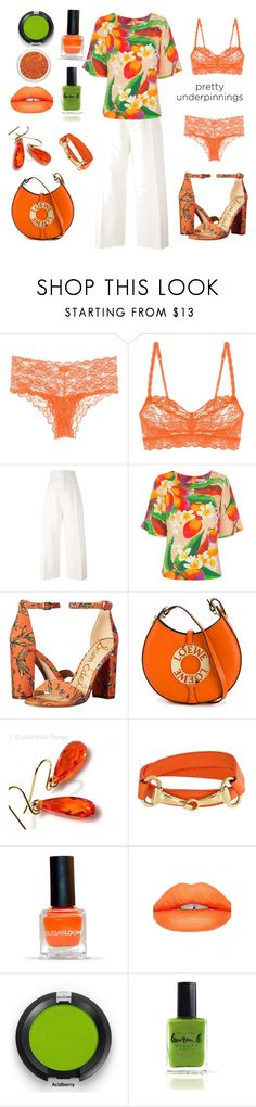 Orange And Green by siriusfunbysheila1954 on Polyvore featuring Isolda, Jacquemus, Cosabella, Sam Edelman, Loewe, Bling Jewelry, Sugarpill and Lauren B. Beauty