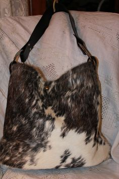 Beautiful Haironhide Cowhide Purse Tote Bag By Suesserendipity 165 00