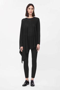 COS   Asymmetric knit top