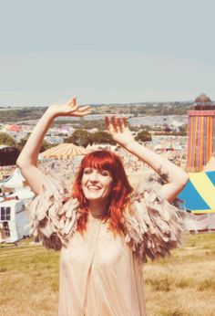Florence Welch: copper red hair