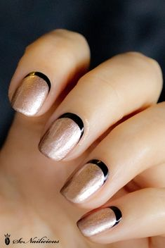 black and gold nails - Google Search