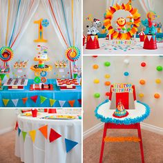 QUÉ EMPIECE LA FUNCIÓN Diy 1st Birthday Party, Baby Boy 1st Birthday, Carnival Birthday Parties, Circus Birthday, Circus Party Decorations, Diy Birthday Decorations, Party Themes, Clown Party, First Birthdays