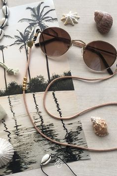 Cadena para gafas con cuentas de cristal y perlas Cathercing