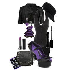 Black & Purple, created by randomlylogical on Polyvore