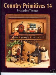 MAXINE THOMAS: COUNTRY PRIMITIVES 14 PAINT BOOK  NEW!