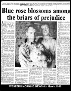 1996: Malcolm & Andy keep publicly piling on pressure on discriminatory Cornish authorities with full page newspaper article.  #LGBT  http://www.lgbthistorycornwall.blogspot.com