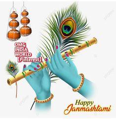 Happy Janmashtami Image, Janmashtami Photos, Sri Krishna Janmashtami, Arte Krishna, Krishna Flute, Durga Images, Krishna Images, Bokeh, Indian Flag