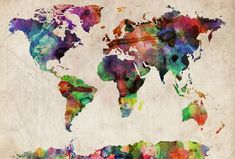 World Map Watercolor – Michael Tompsett