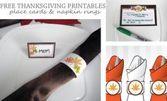 Free Thanksgiving Printables Placecards