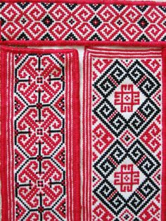Detail of embroidered collar, cuff, and chest panels for a man's traditional Ukrainian 'sorochka', or shirt, in a style and motifs popular in the Horodenka and Sniatyn regions of Carpathian Western Ukraine (Hand embroidered by Dave Melnychuk)