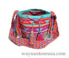 Authentic Crochet Wayuu Mochilas ~ Crossbody 10 in.H x 8 in.W ~ 19 in. strap drop ~
