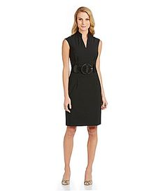 Antonio Melani Nasira Belted VNeck Dress #Dillards