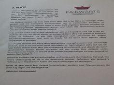 Begründung der Jury für den 2. Preis bei FAIRWÄRTS #janbecksfairhaus #sustainable #tourism