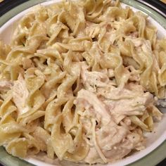 "Creamy Crockpot Chicken with Pasta ""This is a very easy and flavorful pasta dish. I love cooking in the crockpot, and coming home to the smell of dinner when I've been gone all day!"" #crockpotrecipe #comfortfood"