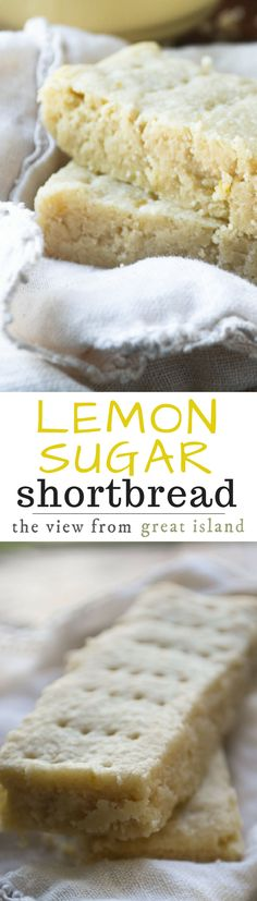 This unusual Scottish Lemon Sugar Shortbread is made with a fabulous sugar infused with lemon rind --- the lemon flavor really pops! | dessert | infused sugar | citrus | cookies | British | Afternoon tea | High Tea |