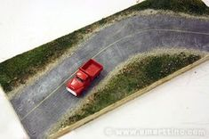 Roads for Your Model Railroad Layout or Diorama, the SMARTT Way : 8 Steps (with Pictures) - Instructables Train Miniature, N Scale Trains, Hobby Trains, Model Train Layouts, Train Set, Model Trains, Scale Models, Scenery, Decoration
