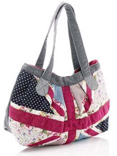 Union Jack Patchwork Bag Maybe One Side Uk And The Other Us