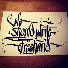 desan21  #ink #calligraphy #desan21 #tattoo #freehand #writing #typography…