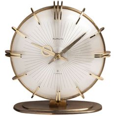 1stdibs | An Art Deco Style Mantle Clock by Europa Jewels 1960s