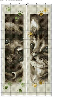 Dog and Cat bookmarks 1 of 2. Segnalibri cane e gatto 1 of 2.