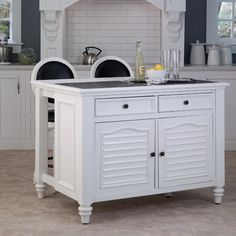 Home Styles Kitchen Island home styles americana white kitchen island with seating | stains