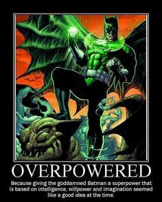Batman DC Green Lantern Ring