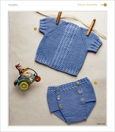 Crochet For Boys, Knitting For Kids, Baby Knitting, Crochet Baby, Crochet Bikini, Knit Crochet, Tricot Baby, Knitted Baby Blankets, Baby Gear