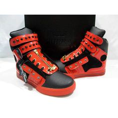 Nike Supra TK Society Red Black Metallic Hasp Zipper